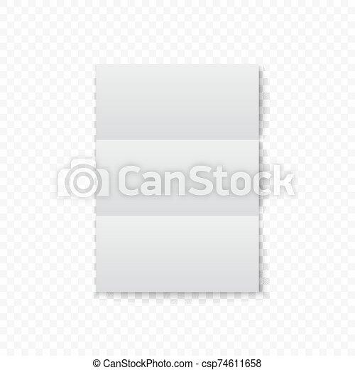 witte , papier, schaduw - csp74611658