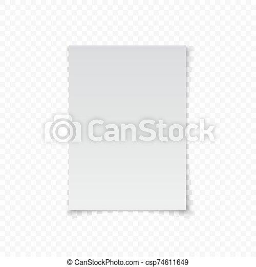 witte , papier, schaduw - csp74611649