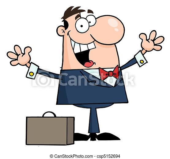 zakenman, kaukasisch, vrolijke  - csp5152694